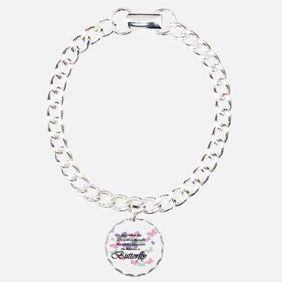 Inspirational Butterfly Charm Bracelet, One Charm