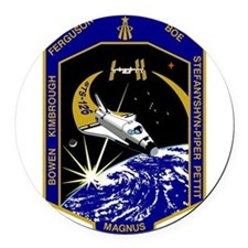NASA STS-126 Mission Patch. Round Car Magnet