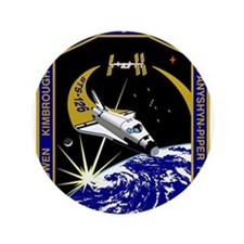 """NASA STS-126 Mission Patch. 3.5"""" Button"""