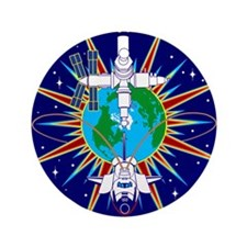 """NASA STS-91 Mission Patch. 3.5"""" Button"""