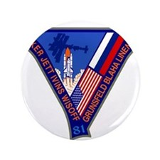 """NASA STS-81 Mission Patch 3.5"""" Button"""