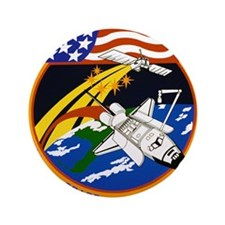 """NASA STS-57 Mission Patch 3.5"""" Button"""