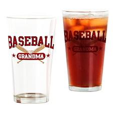 Baseball Grandma Drinking Glass