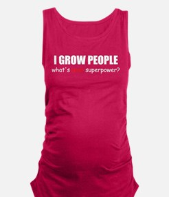 i grow peo blck.png Maternity Tank Top