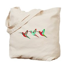 Xmas Hummingbirds Tote Bag