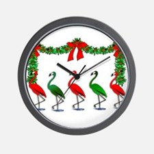 Xmas Flamingo Rockettes Wall Clock