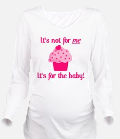 for the baby.png Long Sleeve Maternity T-Shirt