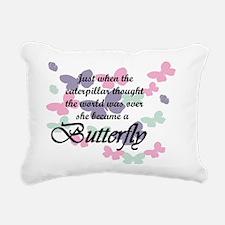Inspirational Butterfly Rectangular Canvas Pillow