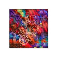 """Butterfly Lace Square Sticker 3"""" x 3"""""""
