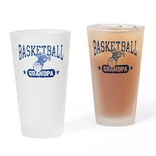 Basketball Grandpa Drinking Glass