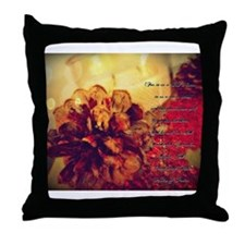 candle and cones leaf bokeh isaiah Throw Pillow