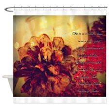 candle and cones leaf bokeh isaiah Shower Curtain