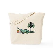 Xmas Gator Gift Tote Bag