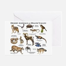 Animals of Death Valley Greeting Card
