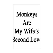Monkeys Are My Wife's Second L Decal