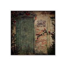 "Vintage Doors Square Sticker 3"" x 3"""