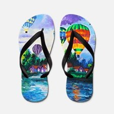 Balloons Canvas Oil Painting Flip Flops