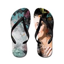 Unique Romantic Woman Flip Flops