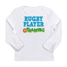 Rugby Player in Training Long Sleeve Infant T-Shir
