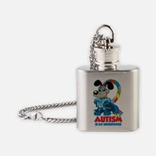 Autism Is My Super Power Flask Necklace