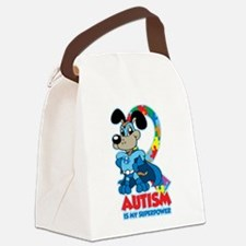 Autism Is My Super Power Canvas Lunch Bag
