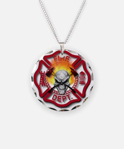 Maltese Cross with Skull and Necklace