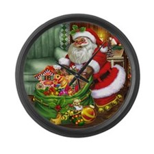 Santa Claus! Large Wall Clock