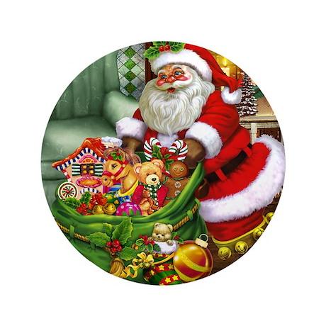"Santa Claus! 3.5"" Button"