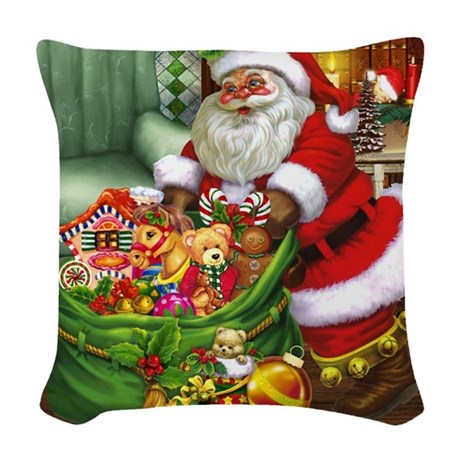 Santa Claus! Woven Throw Pillow