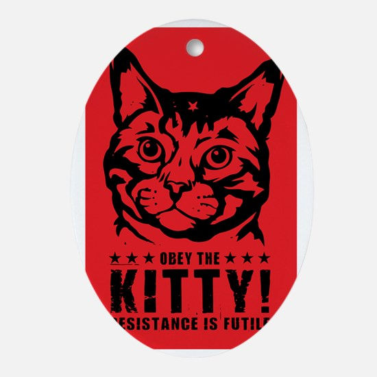 che_kitty_lg Oval Ornament