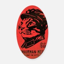 meow_large Oval Car Magnet