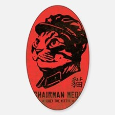 meow_large Sticker (Oval)