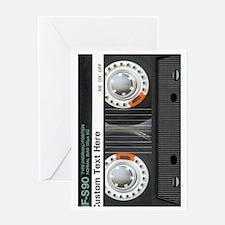 Custom Retro Cassette Greeting Card