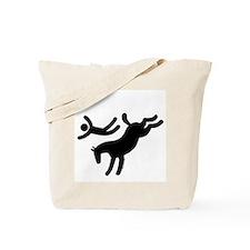 TM bucking horse stunts Tote Bag