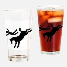 TM bucking horse stunts Drinking Glass