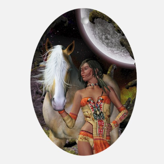 Native Beauty Oval Ornament