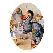 Alice  the Dodo_10x14 Oval Ornament
