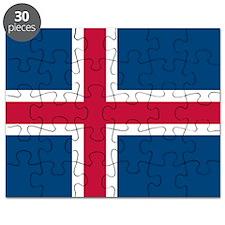 Icelandic Flag Puzzle
