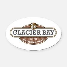 Glacier Bay National Park Oval Car Magnet