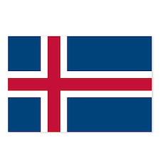 Icelandic Flag Postcards (Package of 8)