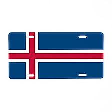 Icelandic Flag Aluminum License Plate