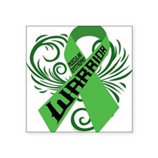 "Muscular Dystrophy Warrior Square Sticker 3"" x 3"""