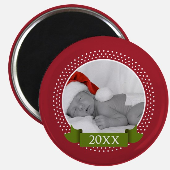 Photo Frame with Year Red Magnets