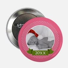 """Photo Frame with Year Pink 2.25"""" Button"""