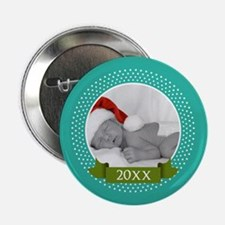 "Photo Frame with Year Teal 2.25"" Button"