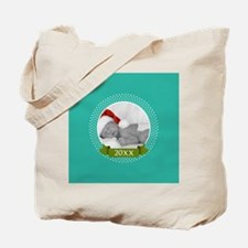 Photo Frame with Year Teal Tote Bag