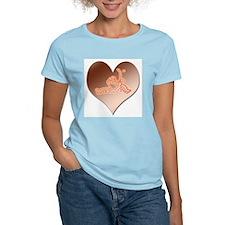 My Heart Belongs to a Goalie Women's Pink T-Shirt