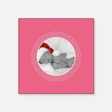 Photo Frame Pink Polka Dots Sticker