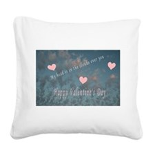valentines day.png Square Canvas Pillow