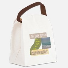 on the road again correction.png Canvas Lunch Bag